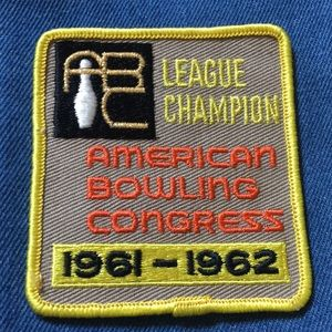 ->4for$25. Vtg 60s Bowling ABC Champion Patch